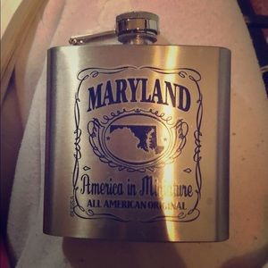Other - State of Maryland Flask- 6 oz - stainless steel